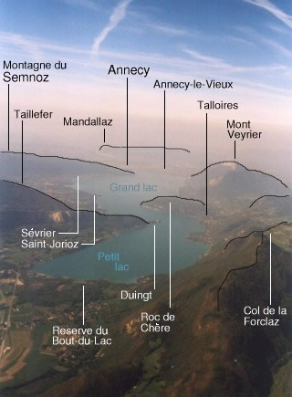 Lake Annecy and surrounding mountains