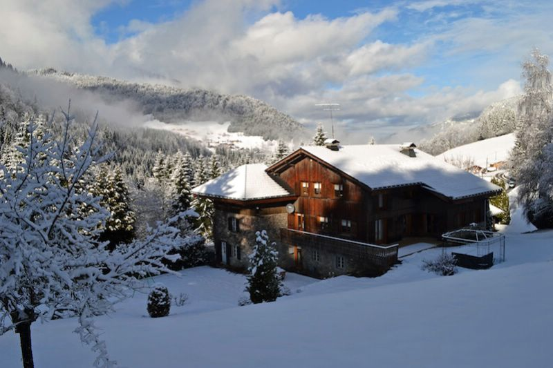 the nest les gets luxury ski chalet for catered chalet skiing snowboarding and summer